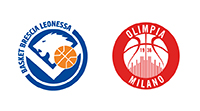 Germani Brescia Leonessa VS AX Armani Exchange Milano - dom 19 gen h. 20:30